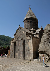Geghard Monastery (cowyeow) Tags: armenia caucuses composition landscape geghard monastery geghardmonastery old travel historical architecture orthodoxchristianity tourists people candid women girl girls blonde church