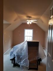 Homewood bedroom, Before interior paint work.