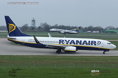Ryanair EI-DHS taxi with Ryanair 737-800 departing behind London Stansted Airport April 2018 (bananamanuk79) Tags: planewatch pictures aviation airplane airport london flying flight runway air travel transport pilot avgeek airways takeoff departure flyer vehicle outdoor airliner jet jetliner flyers travelling holiday logo livery painted airplanes aicraft photos airline airliners airlines planespotter stansted londonstanstedairport stn boeing boeing737800 b737 ryanair ryanairboeing737800 ryanairstansted eidhs