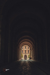 Under the Esztergom Castle (RedfoxPerspective) Tags: ifttt 500px tunnel darkmood intothelight old town castle couple couplegoals love together architecture hdr arch arches symmetry esztergom reflection reflections autumn travel lightroom light trail