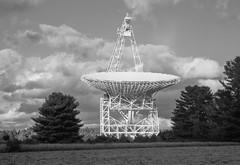 GBT crop (lewisfrancis) Tags: fujichromeprovia100f film analog telescope radioastronomy astronomy gbt superikonta zeiss ikon 120 greenbank bw monochrome zeisikonsuperikontaii 6x9