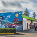 Orca and Corvette Mural