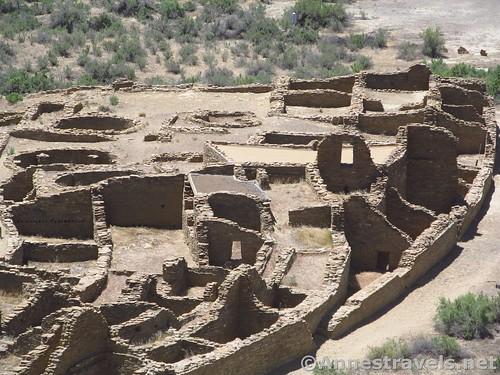 Closer Up of Pueblo Bonito