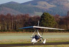 G-CGRS Quik, Scone (wwshack) Tags: egpt flexwing mainair psl perth perthairport perthshire quik scone sconeairport scotland microlight gcgrs