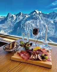 Lunch with a view  Murren, Switzerland (Tour To Planet) Tags: waterfall waterfalls tour planet autumn nature best earth official sky sun summer beach beautiful sunset sunrise flowers night tree clouds beauty cloud porn lovers dusk weather iphonesia m