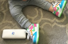 """Colourful new shoes. (denisbin) Tags: shoes """"new shoes"""" """"colourful"""