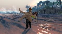 Save me... (ThiegoFire) Tags: beach fairheaven couple secondlife sl love care paradise game secondlifepic