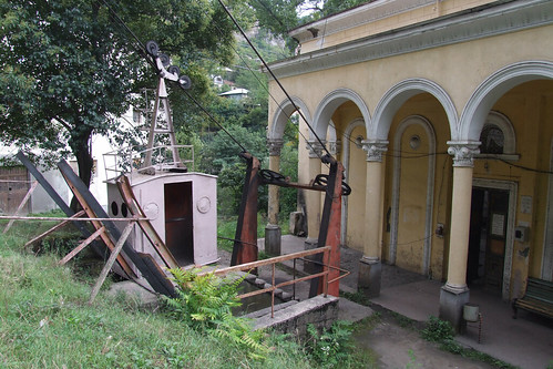 Lower station of the cable car, 09.09.2013.