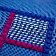 DebBee's Treat (GATACA1952) Tags: needlepoint needlepointer canvaswork dmc kreinik needlework handmade craft homedecor texture countedneedlepoint countedcanvaswork floss fibre fibreart blue debbierowley debbee'sdesigns