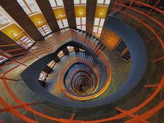 Treppenhaus (zuiko12) Tags: fisheye hamburg club16 mzuiko olympus prime zuiko cityscape omd em1 8mm