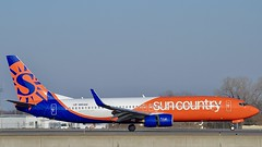Sun Country Airlines Boeing 737-800 (Nate Nickell) Tags: suncountryairlines suncountry airlines airline boeing boeing737 boeing737800 airplane plane jet airliner jetliner aircraft airplanespotting planespotting aviation aviationspotting aviationphotography travel transportation flying flight airtravel airtransportation minneapolisstpaulinternationalairport mspairport airport minneapolis minnesota mn n861am