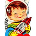 Vintage Child's Valentine - You'll  Missle - Lot If You Won't Be My Valentine, Made In USA, Made In USA, Circa 1960s
