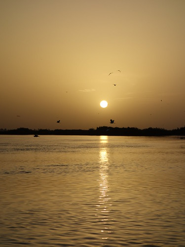 Nous avons terminé avec un superbe coucher de soleil sur la mandrogue