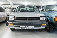 Triumph Acclaim 'Last of Line' - 1984 (Perico001) Tags: acclaim lastofline 1984 auto automobil automobile automobiles car voiture vehicle véhicule wagen pkw automotive nikon df 2018 ausstellung exhibition exposition expo verkehrausstellung carshow musée museum automuseum trafficmuseum verkehrsmuseum muséeautomobile museo autoshow britishmotormuseum gaydon warvick engeland england angleterre uk unitedkingdom greatbritain grootbrittannië oldtimer classic klassiker collectioncentre sedan berline berlina saloon triumph