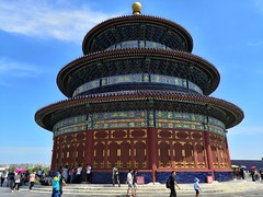 Temple of Heaven (Matteo Agosto) Tags: temple templeofheaven china asia beijin summer august 2018 colors tempiodelcielo imperial altar 1420 dynasty ming qing sky view