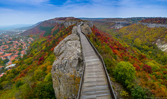 Colorful (@Dpalichorov) Tags: color colors colorful view nature landscap landscape top high forest tree red green trees walk way mountain sky clouds nikond3200 nikon d3200 panorama city village house houses bulgaria prodavia provadia българия провадия fortress castle tower path track bridge alley