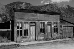 Remnants (Patricia Henschen) Tags: chaffeecounty sawatch range mountains mountain aspen autumn fall color gold silver mine mines mining ruins ghosttown stelmo mtprinceton chalkcreek nathrop colorado canyon sanisabelnationalforest leafpeeping fallcolor county road backroad clouds countyroad162 chaffee buildings monochrome blackwhite
