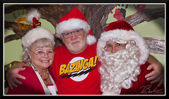 ChildLifeSantaVisit_9004 (bjarne.winkler) Tags: bazinga me with santa claus aka jim wood mrs nancy child life center christmas morning doing what they do best bringing joy sick kids that could go home family had visit them hospital this special