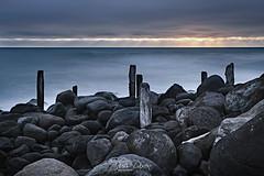 Sentinels (Russ Dixon Photography) Tags: russdixon russdixonphotography taranaki newzealand landscape seascape longexposure twilight ocean fujixt3