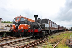 Downpatrick, 08/09/2018 (Milepost98) Tags: dcdr downpatrick county down heritage vintage preserved railway train ni northern ireland irish ehod european open days day weekend ehodni set rolling stock ok orenstein koppel 1 steam locomotive bcdr railmotor 72 composite 148 gswr 836 carriage carriages coach coaches diesel 146 b146 b class gm itg traction group