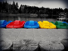 Boats - Colour Splash (joshua.sinclair.pc) Tags: lake boats coloursplash blackandwhite water cumbria landscape