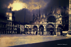Digital Pastel Drawing of the Piazza San Marco (Charles W. Bailey, Jr., Digital Artist) Tags: saintmarksbasilica stmarksbasilica patriarchalcathedralbasilicaofsaintmark basilicadisanmarco cathedral piazzasanmarco saintmarkssquare venice italy europe photoshop photomanipulation topazclarity alienskinexposurex4 topazrestyle topazimpression drawing pastel pasteldrawing fineart visualarts artwork workofart picture digitalart artist digitalartist charleswbaileyjr