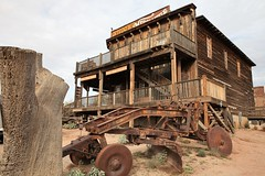Goldfield60 (ONE/MILLION) Tags: vacation travel tours visit old history mine mining town gold goldfield arizona church railroad cross rust rusty saguaro cactus williestark onemillion horse blue sky outdoors mountains superstition lost dutchman bell flowers cowboys