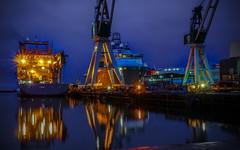 Reflections (Carl Terlak) Tags: apsc sony seashore docks denmark harbour jutland kattegat lens zeiss nex6 bay nex