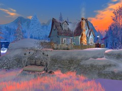 Winter Morning in the Mountains (kayla.barnside) Tags: adagiobreeze oldtown secondlifesecondliferegionadagiobreezesecondlifeparceloldtownsecondlifex127secondlifey118secondlifez1201