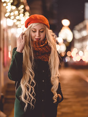 DSC_8176 (angelina.solberg) Tags: portrait moscow model night city street streetstyle ootd longhair winter christmas snow russia