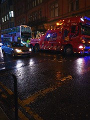 7B578ECF-2D1F-4D0D-86BC-8C37B0693F06 (idefleunam) Tags: uk scotland glasgow evening recovery cars truck red street lights bus