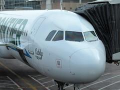 F9 A321-211 N714FR (kenjet) Tags: f9 frontier frontierairlines dia den kden denver colorado denverinternationalairport cubby bear airbus 321 a321 a321211 a321200 714 n714fr cubbythebear gate airport terminal