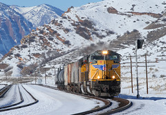 Broken Wing (jamesbelmont) Tags: railway emd sd70ace echo utah snow evanstonsubdivision ogdenlocal luj62
