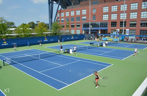 Angelique Kerber - Practice courts