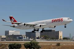 HB-JMN   Airbus A340-313   Swiss International Air Lines (cv880m) Tags: lax losangeles klax california aviation airliner airline aircraft airplane jetliner airport hbjmn airbus a340 343 340300 340313 swiss swissinternationalairlines switzerland