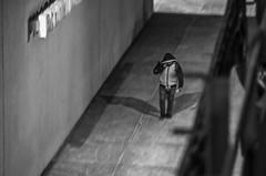 Walking alone. (Capitancapitan) Tags: walking alone city new york neury luciano manhattan tren subway black white pentax effect instagram facebook apple bronx riverdale street photography