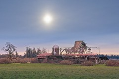 Collapsing barn and silo 3583 A (jim.choate59) Tags: jchoate on1pics barn collapse decay ruraldecay silo rural roof vancouverwashington clarkcounty