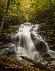 Lower Higgins Falls (the SkyHum) Tags: waterfall landscape longexposure water canon cascade nature outdoors tennessee fall fallcolor flowing woods
