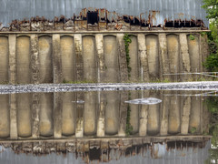 Waterfront Property (milfodd) Tags: july 2018 puddle reflection singlerawhdr potdjuly26th2018 warehouse decay