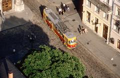A view from the town hall of Lviv (Paul-760) Tags: uz ukraine oekraine ukrain lviv lvov childrens railway pionierbahn 750mm tatra street