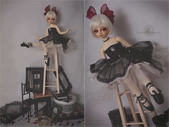 .how did you get up there?. (.daria. [the haunted dollhouse]) Tags: volks volksbjd bjd balljointeddoll f16 thehaunteddollhouse msd