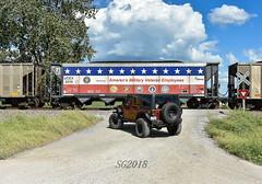 Military vets thank you. (Machme92) Tags: veterans railroad railfanning railroads railfans rails coal nikon military navy army coastguard marines jeep wrangler jeepwrangler