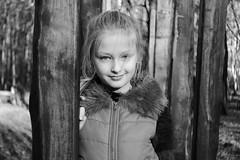Natalia (Piotr Gajek) Tags: portrait outdoor kid girl sunny day light bw bokeh bokelicious black and white smile face vintage lens mir 1b fujifilm xt2
