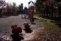 A park in Sapporo (threepinner) Tags: park sapporo hokkaidou hokkaido northernjapan autumn pentax mz7 fa 3580mm negative iso100 selfdeveloped reversal negaposidevelopment 札幌 精進河畔公園 北海道 北日本