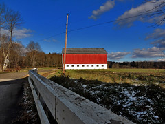 Merica (George Neat) Tags: stony creek township shanksville red barn somerset county pa pennsylvania clouds scenic landscapes buildings structures georgeneat patriotportraits neatroadtrips snow
