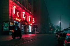 Noir Warsaw (przemnml) Tags: noir warsaw warszawa warschau poland polska polen neon fog smoke smog nightlights night noc dobrywieczór goodevening