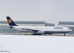 Lufthansa A330-300 D-AIKJ (birrlad) Tags: munich muc international airport germany aircraft aviation airplane airplanes airline airliner airlines airways taxi taxiway takeoff departing departure runway snow cloud weather airbus a330 a333 a330300 a330343 daikj lh460 miami