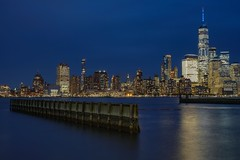 Blue hour (karinavera) Tags: city longexposure night photography cityscape urban ilcea7m2 nyc blue river newyork manhattan newjerseyview