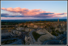 Crich Quarry sunset smll (GOLDENORFE) Tags: drone phantom4pro crich