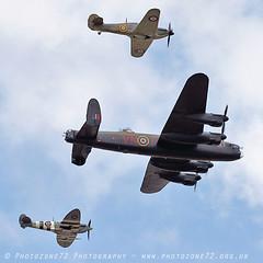 6156 BBMF Spitfire AB910 Lancaster Hurricane LF363 (photozone72) Tags: bbmf rafbbmf raf hurricane lf363 spitfire ab910 lancaster avro aviation aircraft airshows airshow canon canon7dmk2 canon100400f4556lii 7dmk2 farnborough fia
